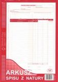 Arkusz spisu z natury - A4 - blok 48 kopii