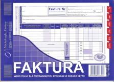 Faktura VAT - papier samokopiujący - blok 80 kopii