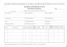 Karta ewidencji wyposażenia pracownika - A5