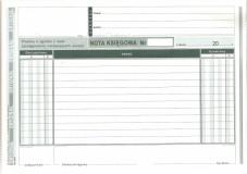 Nota księgowa - papier samokopiujący - 80 kart