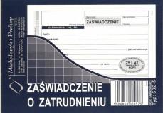 Zaświadczenie o zatrudnieniu / zarobkach - bloczek 80 kopii