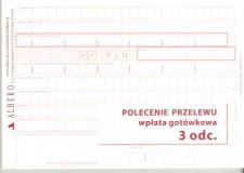Polecenie przelewu/wpłata gotówkowa - papier samokopiujący - 3-odcinkowe - bloczek 80 kartkowy