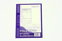 Polecenie wyjazdu służbowego - rozliczenie delegacji - bloczek 40 kopii