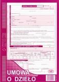 Umowa o dzieło - papier samokopiujący - blok 40 kopii
