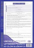 Umowa w sprawie używania pojazdu do celów służbowych - blok 40 kopii
