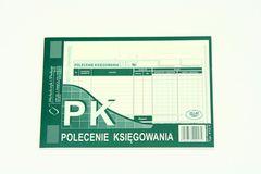 """Polecenie księgowania, """"PK"""" - papier samokopiujący - blok 80 sztuk"""