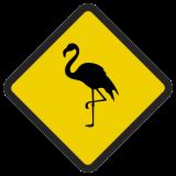 Śmieszne znaki drogowe ze zwierzętami (flaming)