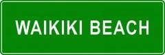 Tabliczki z nazwami miejsc i miejscowości (Waikiki Beach 2)