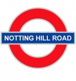 Tabliczki z nazwami miejsc i miejscowości (Notting Hill Road 3 ) 20x20