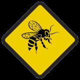 Śmieszne znaki drogowe ze zwierzętami (osa/pszczoła)