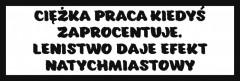 Śmieszne tabliczki refleksyjne (Ciężka praca kiedyś zaprocentuje)