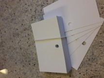 Przekładki, do kart katalogowych z otworem, 100 szt.