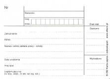 B-192 Karta zapisu i zobowiązań A7, pakiet 100 szt.