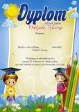 Dyplom ukończenia oddziału zerowego (z treścią) DP93T