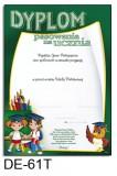 Dyplom pasowania na ucznia DE-61T z liniami pomocniczymi