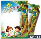 Dyplom dla dzieci (bez treści, linie pomocnicze) DP-16T