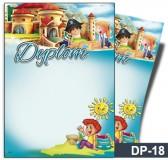 Dyplom dla dzieci (bez treści) DP-18