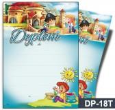 Dyplom dla dzieci (bez treści, linie pomocnicze) DP-18T