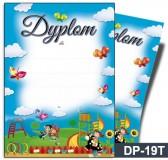 Dyplom dla dzieci (bez treści, linie pomocnicze) DP-19T