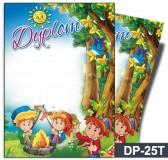 Dyplom dla dzieci (bez treści, linie pomocnicze) DP-25T