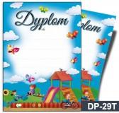 Dyplom dla dzieci (bez treści, linie pomocnicze) DP-29T