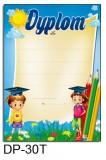 Dyplom dla dzieci (bez treści, linie pomocnicze) DP-30T