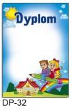 Dyplom dla dzieci (bez treści) DP-32