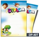 Dyplom dla dzieci (bez treści, linie pomocnicze) DP-40T