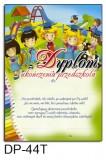 Dyplom ukończenia przedszkola (z treścią) DP-44T