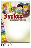 Dyplom ukończenia przedszkola (bez treści) DP-49