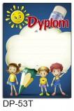 Dyplom dla dzieci (bez treści, linie pomocnicze) DP-53T