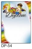 Dyplom dla dzieci (bez treści) DP-54