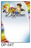 Dyplom dla dzieci (bez treści, linie pomocnicze) DP-54T