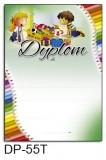 Dyplom dla dzieci (bez treści, linie pomocnicze) DP-55T