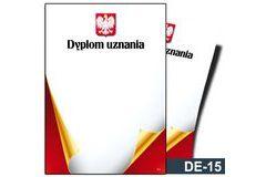 Dyplom uznania DE-15T z liniami pomocniczymi