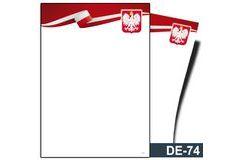Dyplom z godłem (bez treści, linie pomocnicze) DE-74T