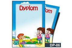 Dyplom dla dzieci (bez treści, linie pomocnicze) DP-06T