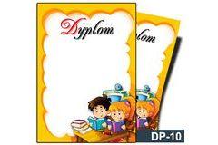 Dyplom dla dzieci (bez treści, linie pomocnicze) DP-10T