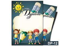 Dyplom dla dzieci DP-12T (linie pomocnicze)