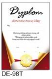 Dyplom ukończenia klasy 3 (treść) DE-98T