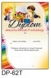 Dyplom ukończenia oddziału przedszkolnego (z treścią, linie pomocnicze) DP-62T
