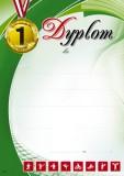Dyplom sportowy (bez treści) SP-14T za zajęcie pierwszego miejsca, z liniami pomocniczymi