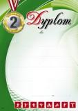 Dyplom sportowy (bez treści) SP-15T za zajęcie drugiego miejsca, z liniami pomocniczymi