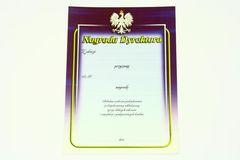 Dyplom - nagroda dyrektora - (wzór z godłem) - treścią