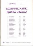 Dziennik nauki języka obcego