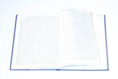 Dziennik lekcyjny z wszytymi, dodatkowymi stronami w kratkę