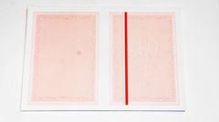 Gilosz - A3 - różowy - z biało-czerwonym paskiem