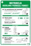 Tablica - Instrukcja udzielania pierwszej pomocy wzór II (uproszczony)