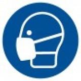 Znak BHP: Nakaz stosowania maski (mniejszy)