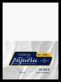 Karton ozdobny do druku dyplomów - kolor biały - faktura młotkowana